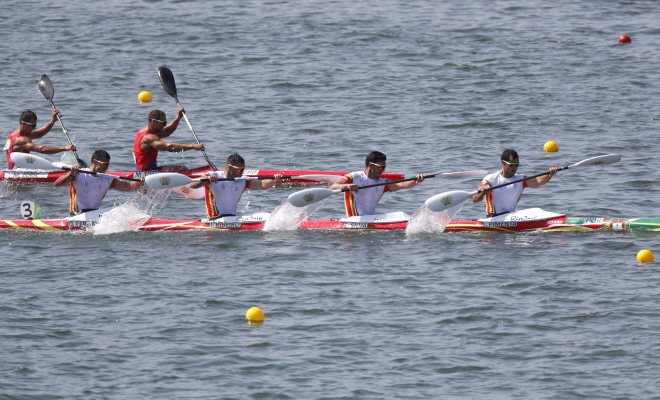 K4 português cortou a meta no sexto lugar.