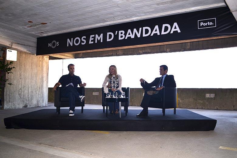 Henrique Amaro, Rita Torres Baptista e Rui Moreira na apresentação desta manhã.