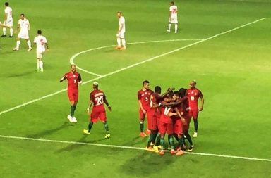 Portugal venceu Gibraltar por 5-0 no Estádio do Bessa.