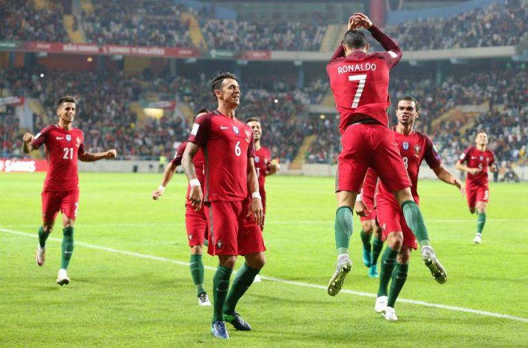 Ronaldo marcou quatro golos em Aveiro.