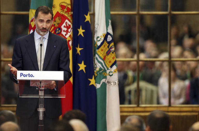 Felipe VI elogiou o desenvolvimento da cidade do Porto.