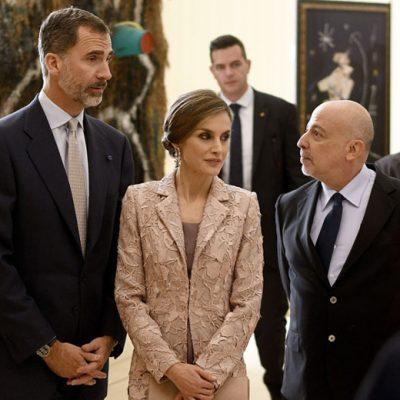 Reis de Espanha em Serralves com o curador da exposição Robert Lubar Messeri | Foto: Octávio Passos/Lusa