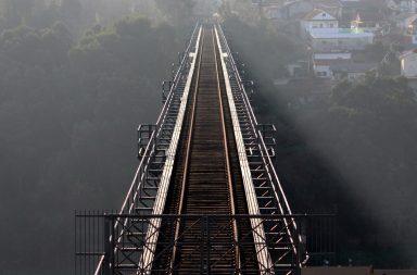A Ponte Maria Pia foi inaugurada em 1877 e encerrada em 1991.