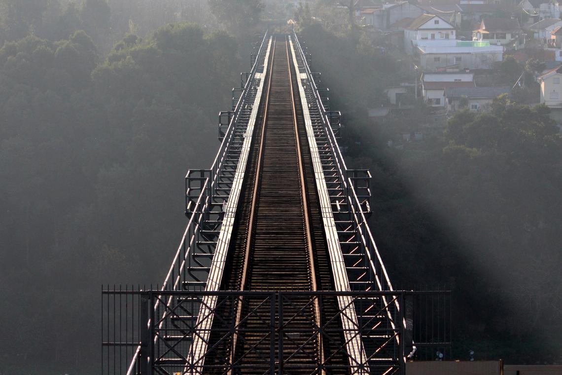 A Ponte Maria Pia foi inaugurada em 1877 e encerrada em 1991. Foto: Patrícia Garcia