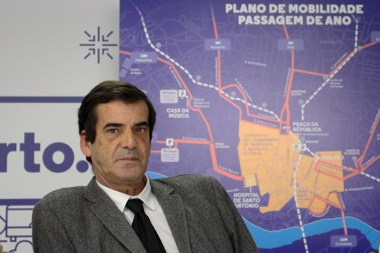 Rui Moreira na apresentação da Operação de Passagem do Ano no Porto.