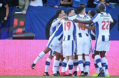 O FC Porto festejou quatro golos em Santa Maria da Feira.