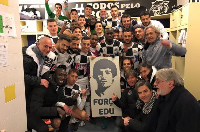 No rescaldo da vitória em Arouca, o Boavista juntou-se para deixar uma mensagem de apoio ao jovem Edu Ferreira, que enfrenta uma doença oncológica.