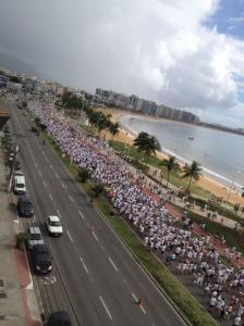 Dez mil pessoas marcharam pela paz no estado de Espírito Santo, no domingo