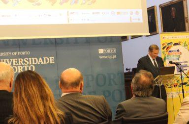 Rui Marques na sessão de lançamento do Porto Capital Jovem da Segurança Rodoviária na Reitoria da Universidade do Porto.
