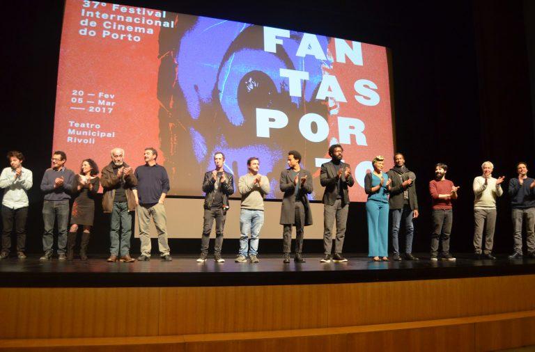 """Equipa do filme """"A Ilha dos Cães"""", apresentado no segundo dia do Fantasporto"""