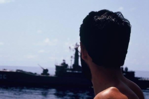 Rui Correia a bordo do navio Lusitânia Expresso.