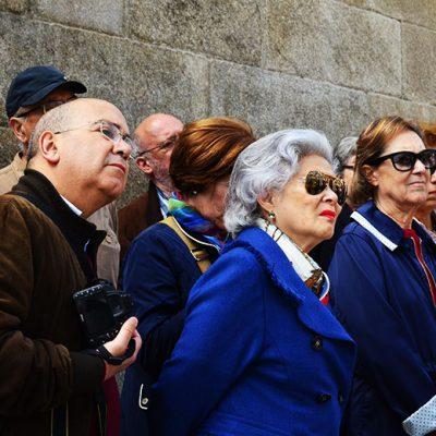 A primeira paragem foi na Rua Mouzinho da Silveira. Foto: Beatriz Carneiro
