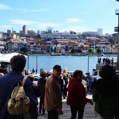 A zona da Ribeira foi a segunda etapa do percurso. Foto: Beatriz Carneiro