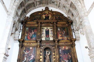 Os participantes puderam visitar o interior da Capela de Nossa Senhora de Agosto.
