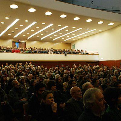A maior sala do Cine-Teatro Batalha encheu. Foto: Beatriz S. Pinto
