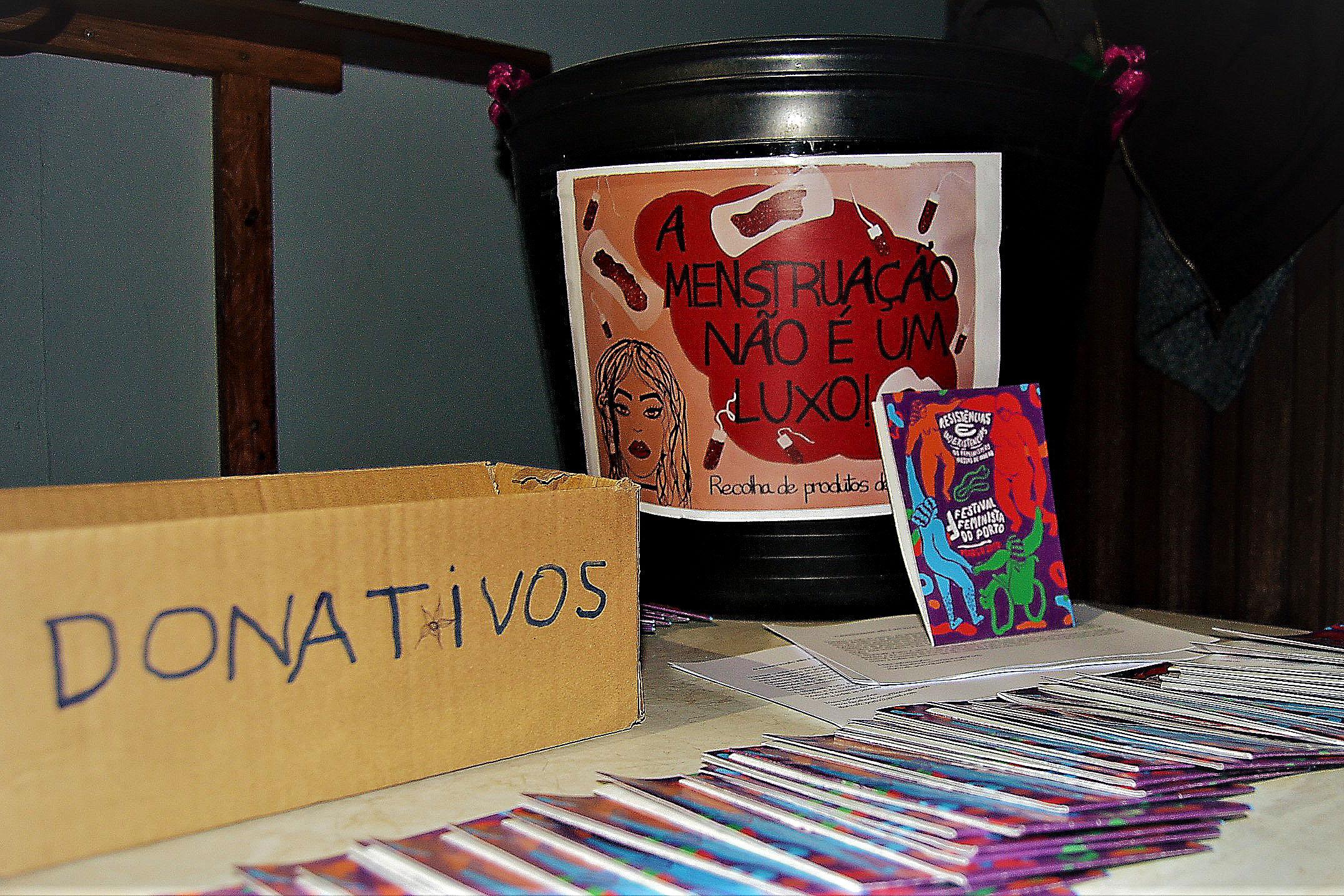 Donativos no II Festival Feminista do Porto