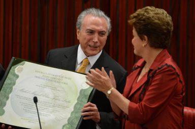 Em 2014, Temer e Dilma tomavam posse como vice e presidente. Muita coisa mudou entretanto.
