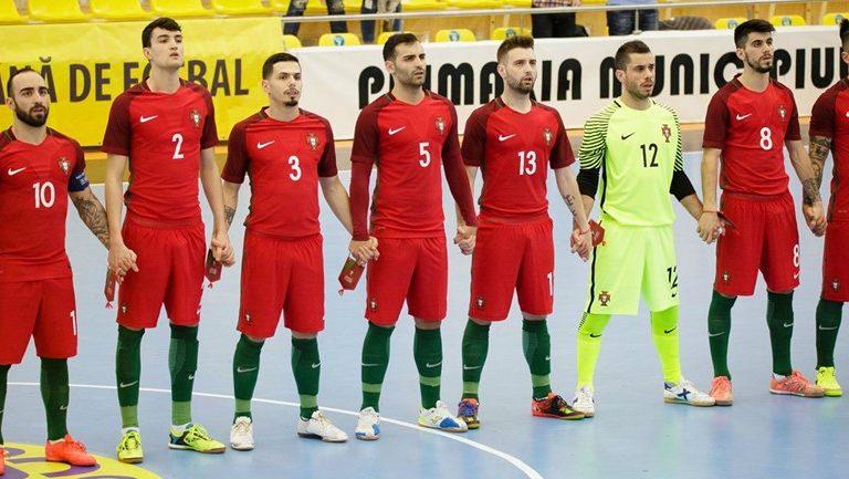 A seleção portuguesa de futsal apurou-se para o Euro 2018. Foto  FPF a9d21cee2c200