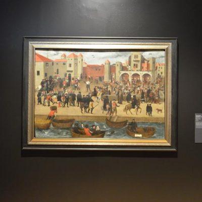 """""""Chafariz d'El Rey"""" um óleo sobre madeira de autor anónimo, ilustra a azáfama da zona ribeirinha de Lisboa, uma das capitais mais importantes da época"""