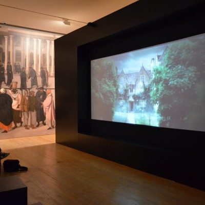 """A exposição """"Cidade Global - Lisboa no Renascimento"""" começa com um vídeo que contextualiza os visitantes neste período áureo da história de Portugal"""