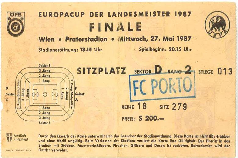 Bilhete Final 1987