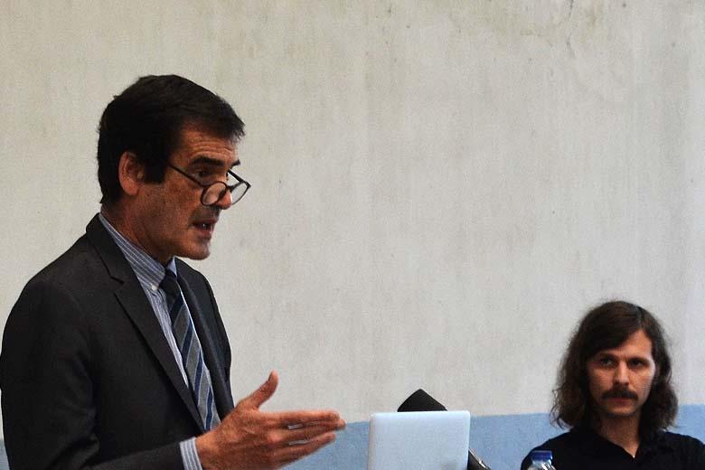 Rui Moreira com João Brandão na apresentação desta manhã.