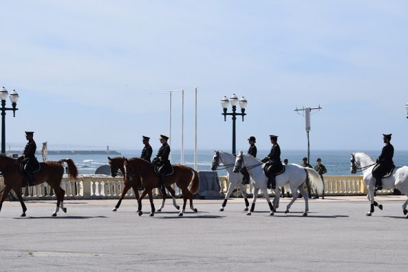 Força a Cavalo, ainda antes da cerimónia, junto ao mar.