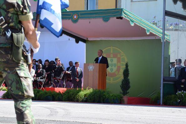 Marcelo Rebelo de Sousa discursou durante cinco minutos.