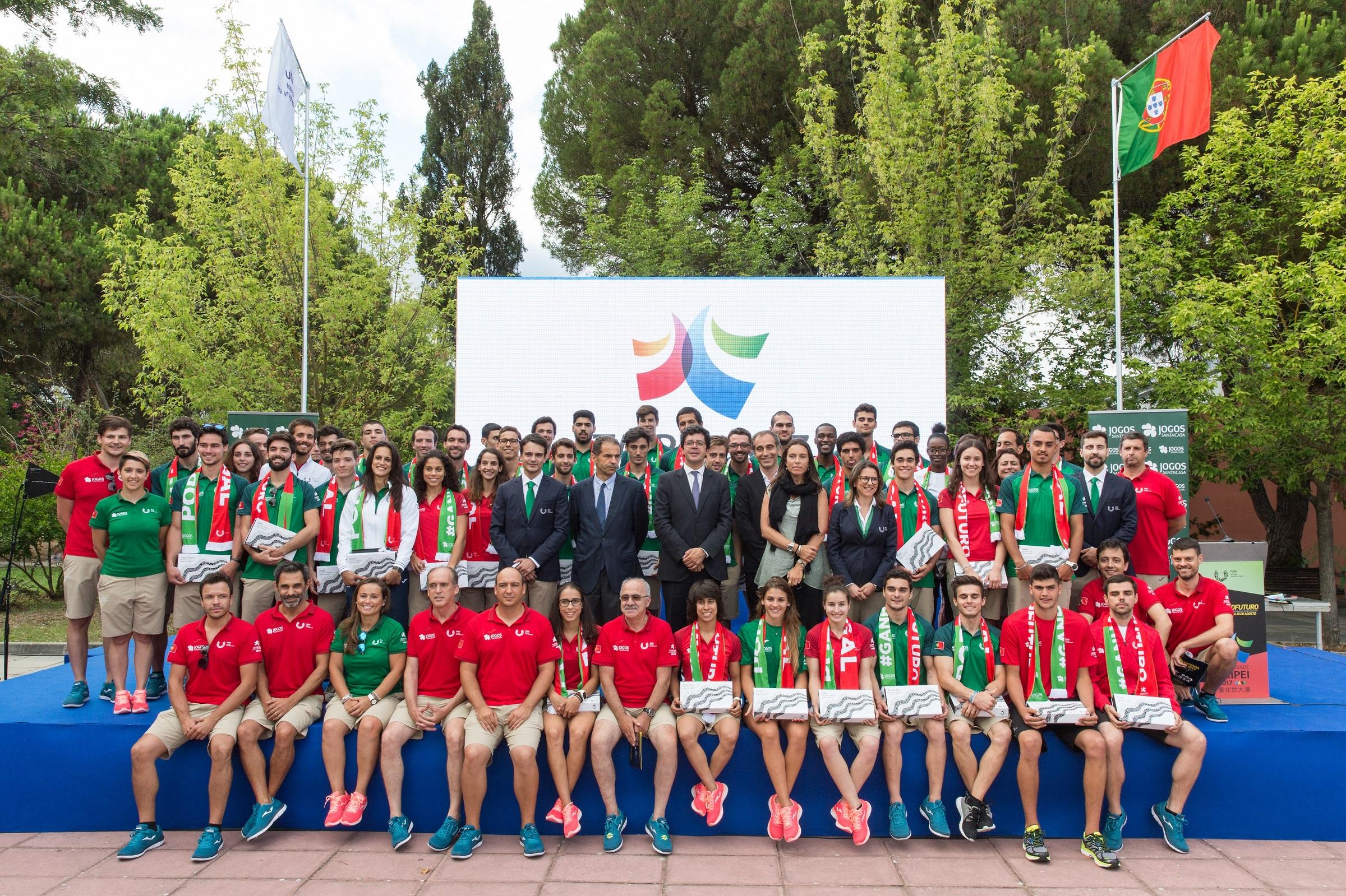 Apresentação da Missão Portuguesa às Universíadas em Lisboa.