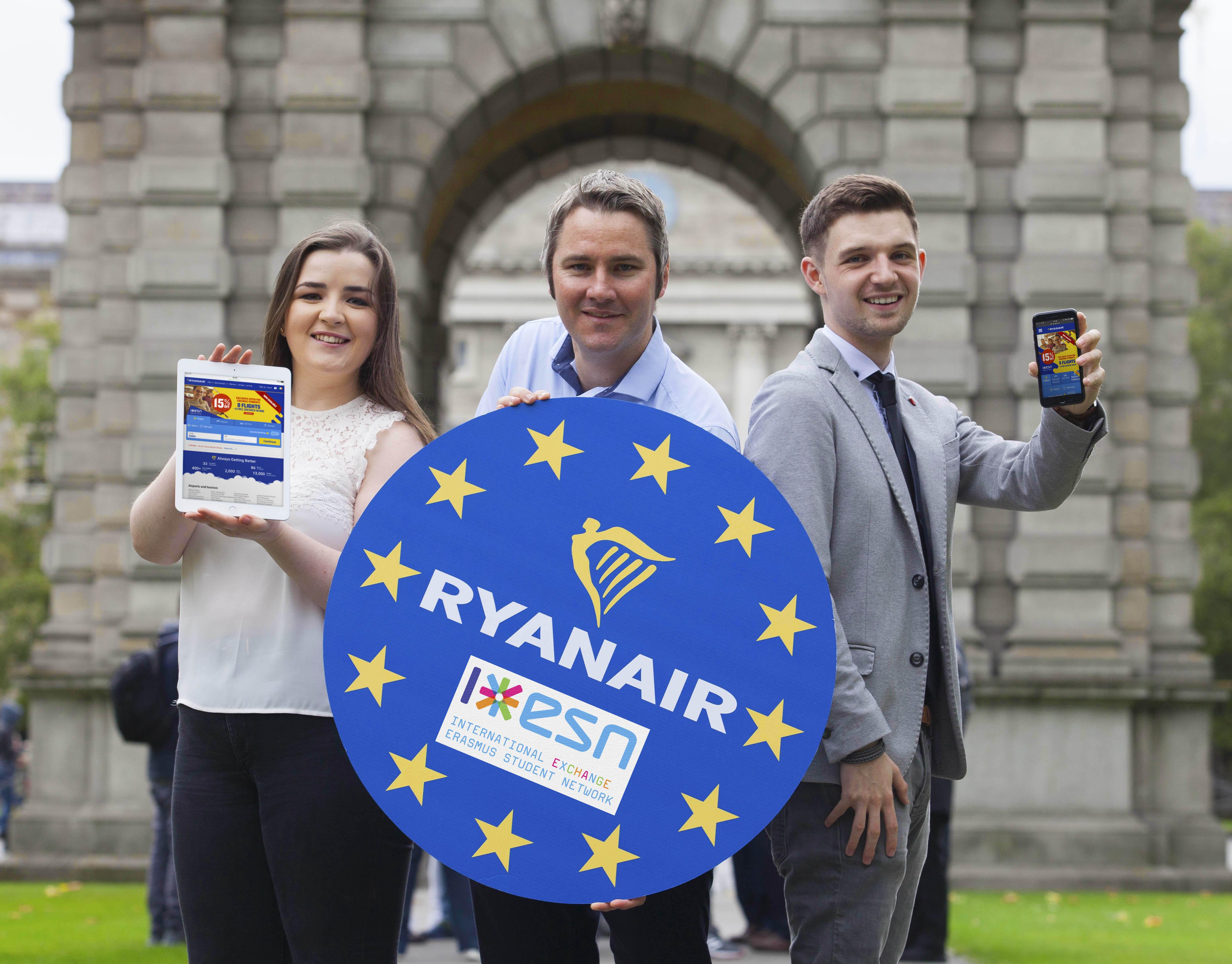 Apresentação da parceira da Ryanair com a ESN em Dublin, na Irlanda.