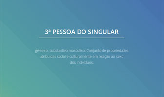 3ª pessoa do singular