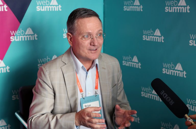 Bryan Grim esteve na Web Summit esta quarta-feira.
