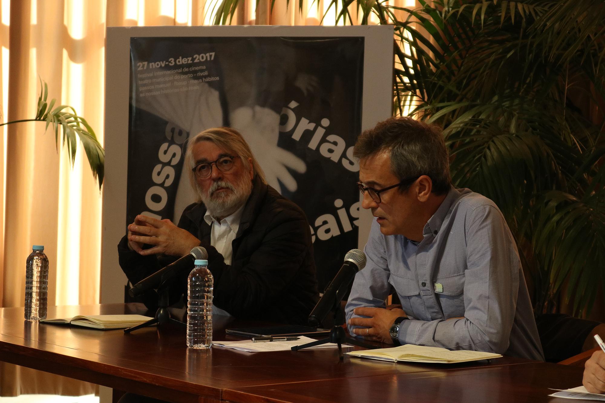 José Paiva, diretor da FBAUP (à esq.) ao lado de Dario Oliveira, codiretor do festival.