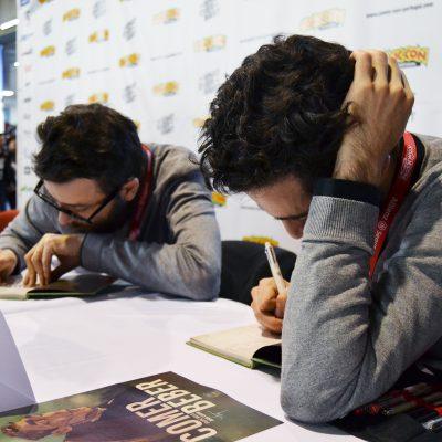 """Filipe Melo e Juan Cavia apresentaram """"Comer/Beber"""" na Comic Con."""