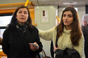 Sofia Tojal e Emília Gomes participam como voluntárias nos testes.