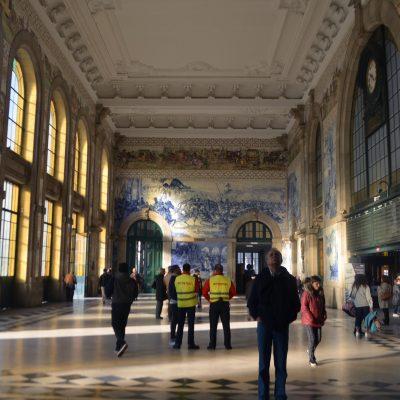 A Estação é um ponto turístico de interesse pelos seus azulejos