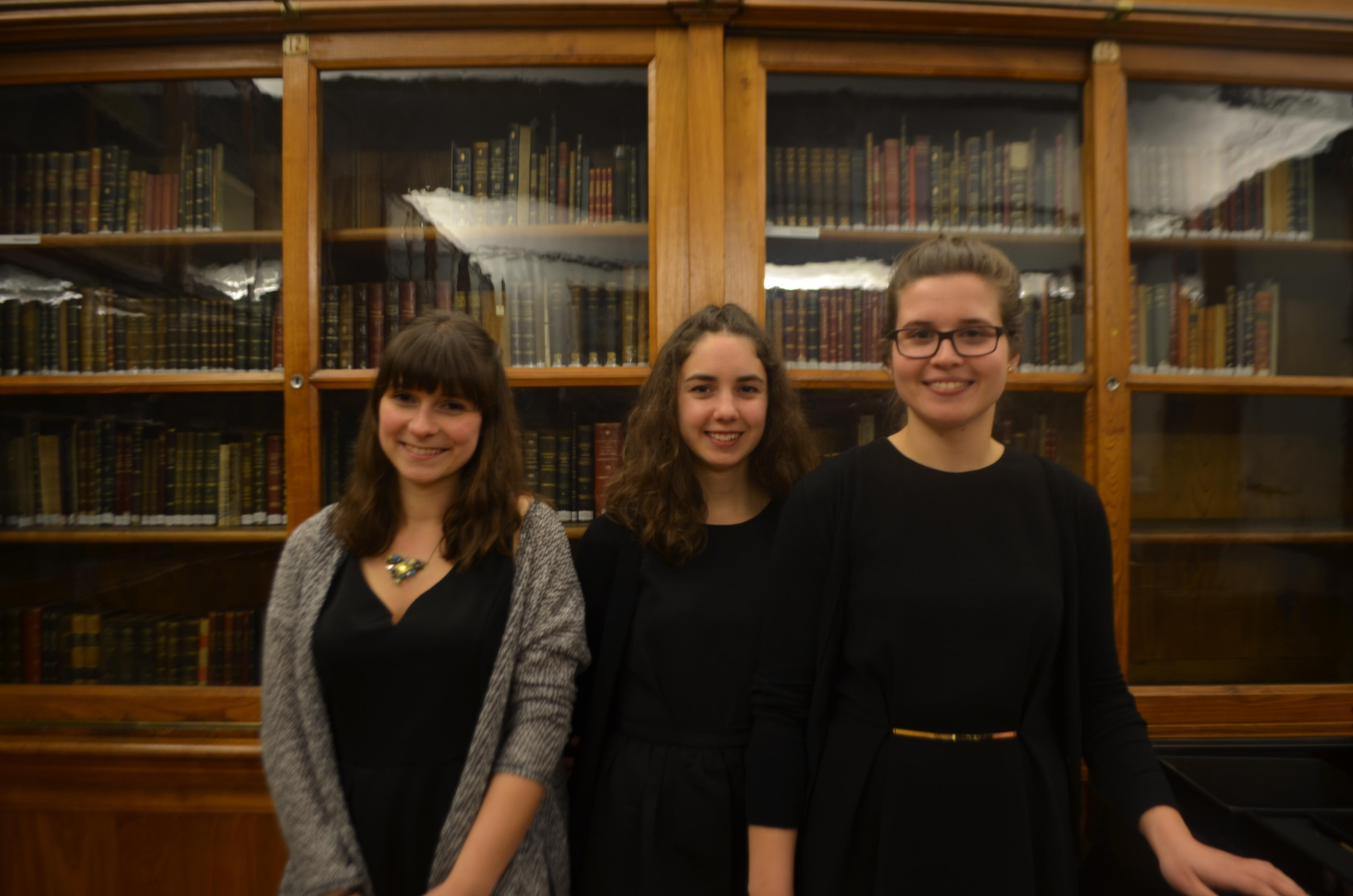 Inês Beatriz Silva, Sofia Pais e Sofia Rodrigues são as finalistas da licenciatura de Música da ESMAE.