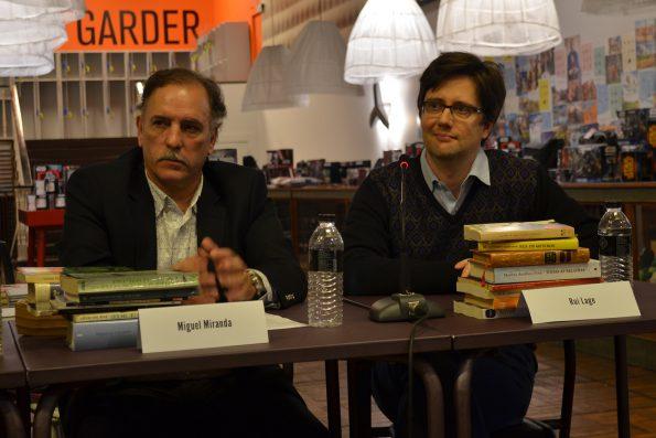 Miguel Miranda e Rui Lage foram dois dos escritores que falaram sobre os os livros que têm na mesinha de cabeceira no primeiro ciclo de conversas esenvolvido pela Livraria Lello.