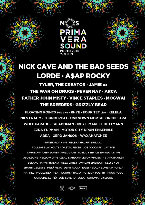 O cartaz do NOS Primavera Sound conta com 60 artistas.