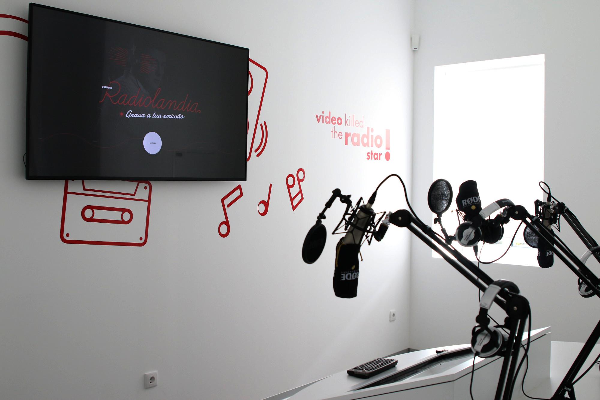 No museu, os visitantes podem gravar os seus próprios conteúdos.