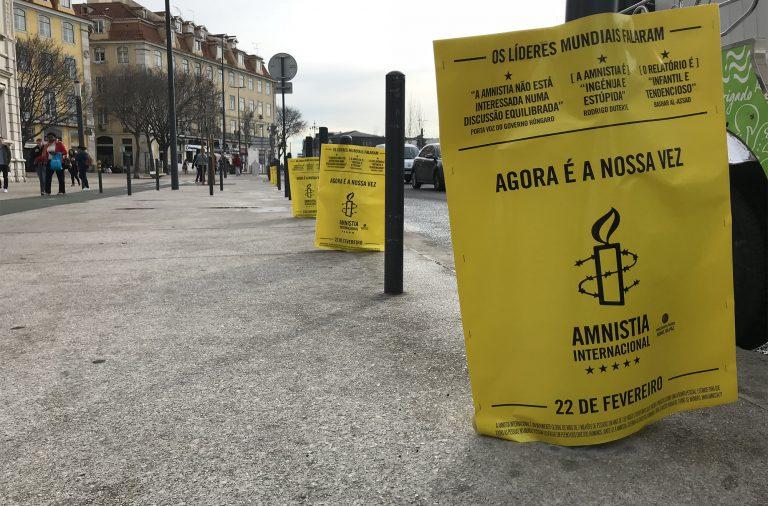 A Amnistia Internacional Portugal promoveu publicamente a divulgação do Relatório Anual através de ações/teasers.