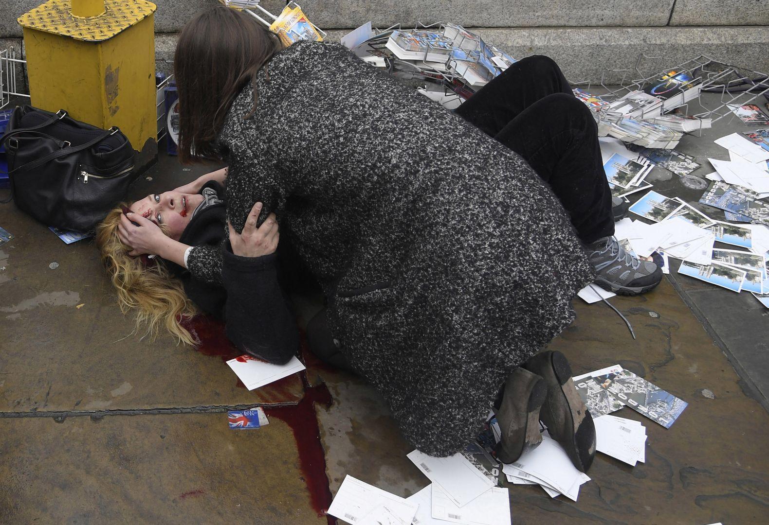 Vítima do ataque terrorista em Westminster, Londres. Foto: Toby Melville