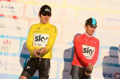 Geraint Thomas (Sky) lidera a geral individual ao cabo de duas etapas na Volta ao Algarve.