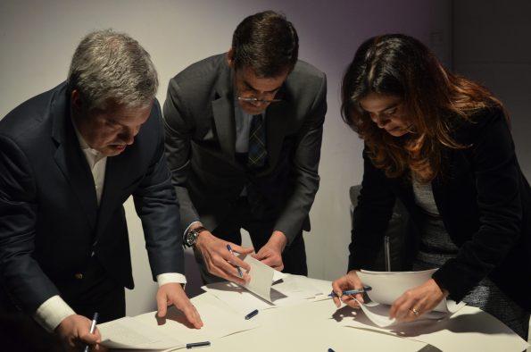 O protocolo que dá luz verde à concretização do Festival Dias Da Dança foi assinado pelos presidentes dos três municípios organizadores.