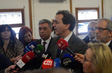 Fernando Araújo fez um balanço do surto de sarampo esta manhã na sede da Administração Regional De Saúde Do Norte.