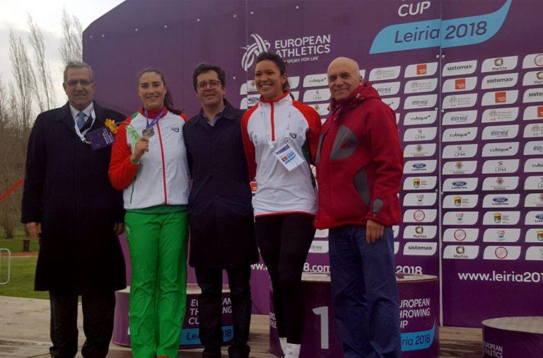 As atletas portuguesas foram as únicas medalhadas na Taça de Europa de Lançamentos de Inverno deste ano. Eliana Bandeira ao estrear-se pela seleção das quinas consegue o bronze.