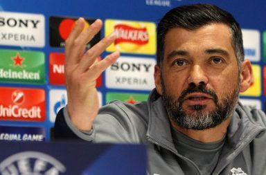 Sérgio Conceição na conferência de imprensa de antevisão do Liverpool-FC Porto.