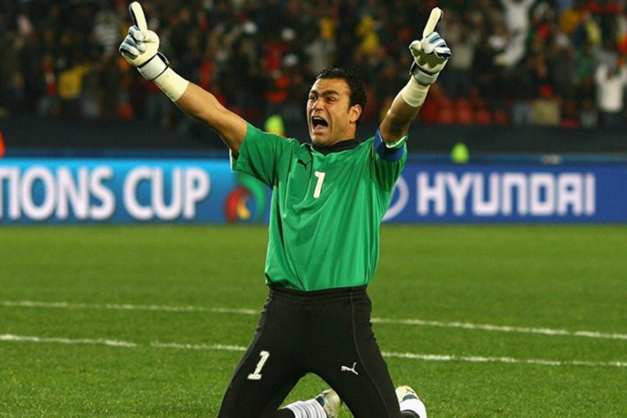 Essam El-Hadary é o capitão da seleção egípcia e um dos maiores ídolos dos adeptos.
