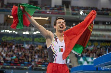 Diogo Ganchinho conseguiu o ouro na prova de trampolim individual no Campeonato da Europa, em Baku, Azerbaijão.