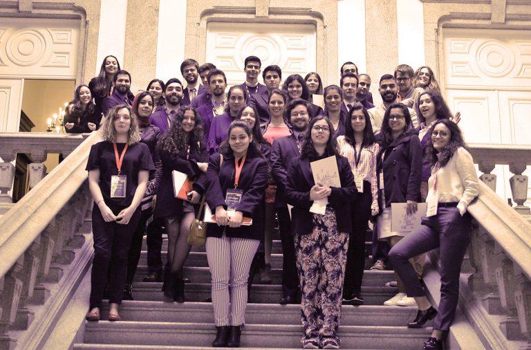 Foi na Reitoria da UP que 35 estudantes se reuniram para simular uma Assembleia Geral das Nações Unidas.